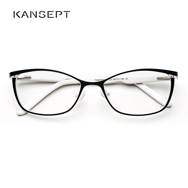 Photo of Metal Women Cat Eye Glasses Frames Vintage Spectacles Transparent Eyeglasses #TWM7559C2