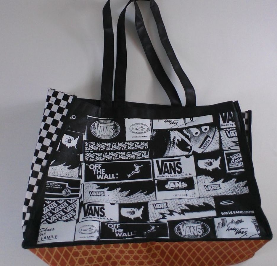 Vans Off The Wall Large Tote Bag Shopping #Beach 18 x 13 x 7 ...