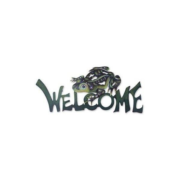 NOVICA Steel Welcome Sign Outdoor Living (82 AUD) ❤ liked on ...