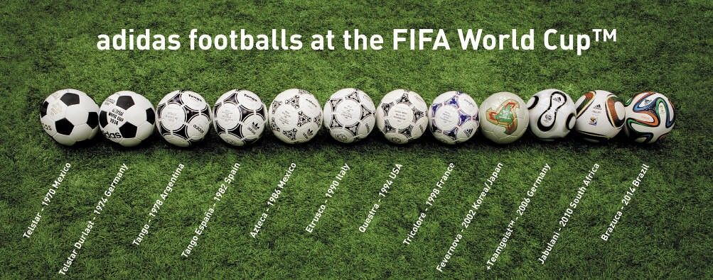 All the World Cup Game Balls | Mondiali, Calcio e Sport