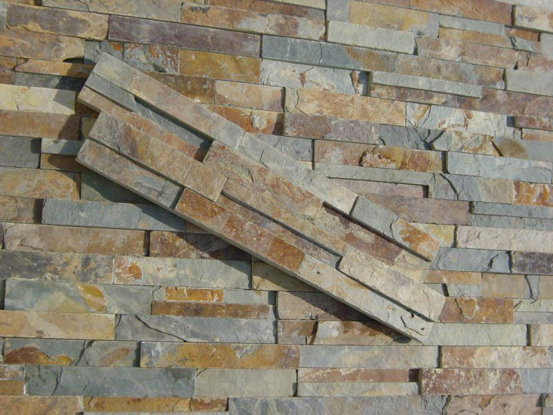 Natural outdoor stone wall tile buy exterior wall tile for Exterior wall mural ideas