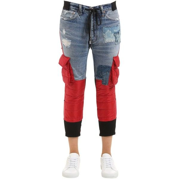 Moncler Pantalones Ajustados azul