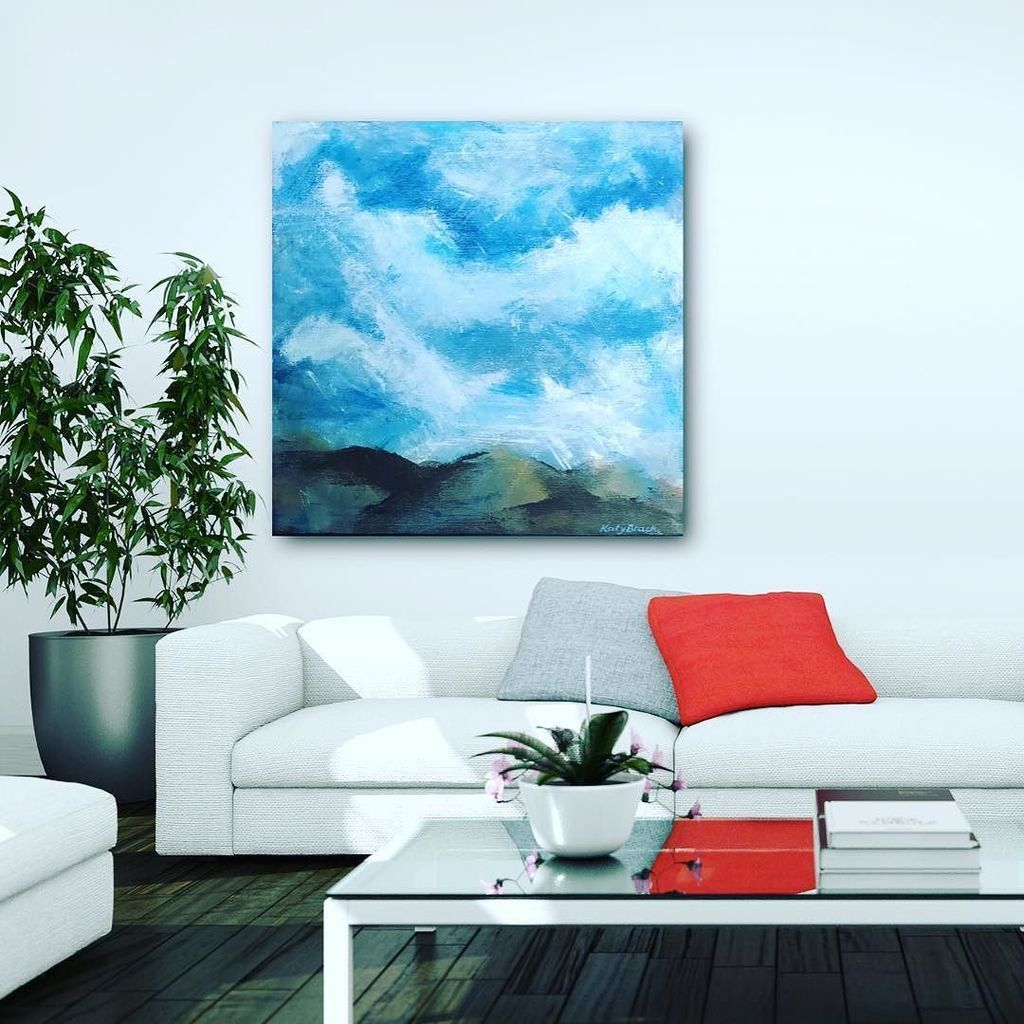 modern living room abstract art large painting white on modern acrylic paintings for living room id=30039