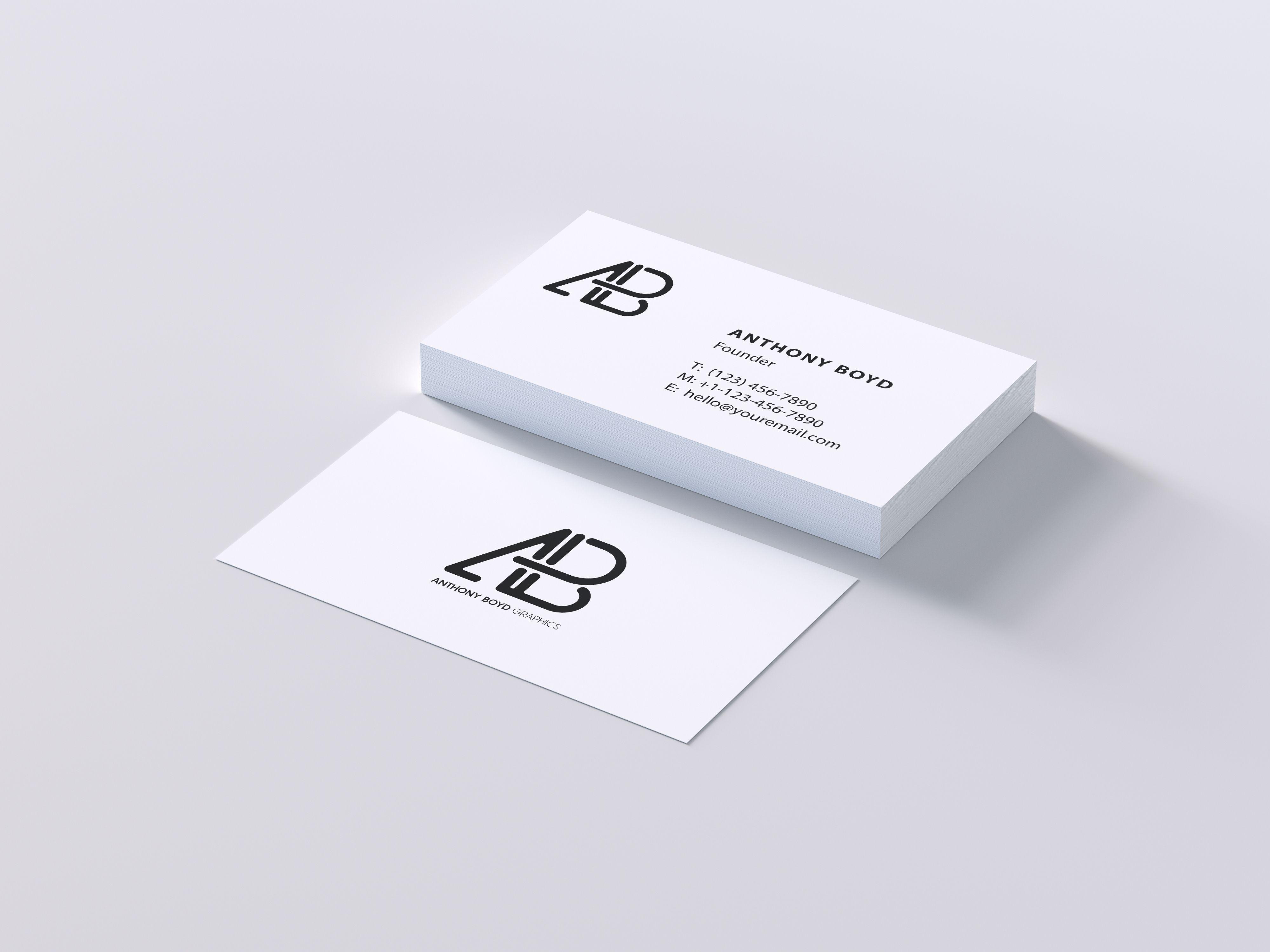 Modern Business Card Psd Mockup Business Cards Mockup Psd Business Card Mock Up Modern Business Cards