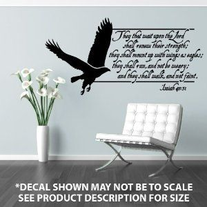 Wings As Eagles Wall Decal I Want For My Sunday School Classroom