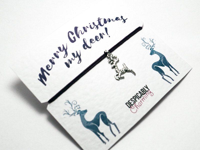 xmas gift CUSTOM Christmas wishes christmas gift wish bracelet friendship bracelet