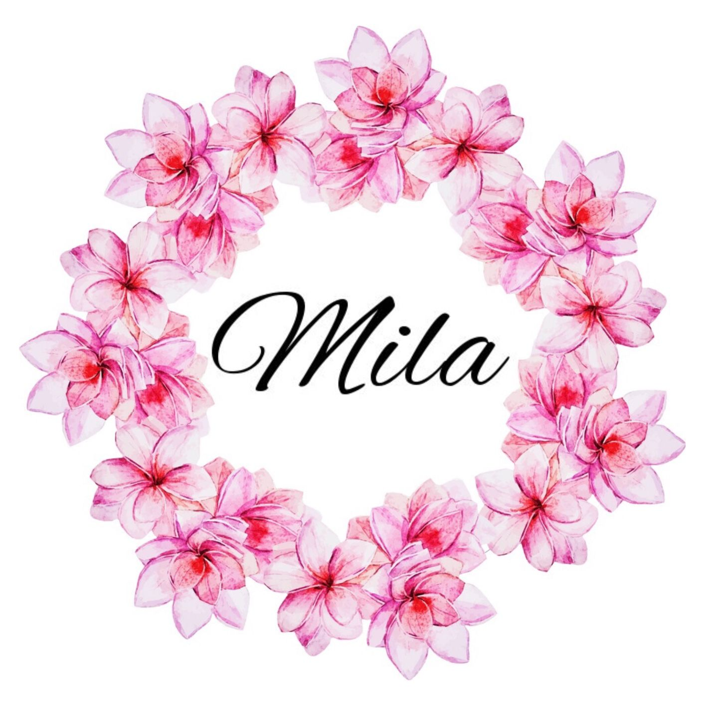 Girls Name In Floral Wreath Milla Milla Mila Mill Lah Mee Lah Polish Russian Young Ceremonial Attend Z Baby Names Iphone Wallpaper Glitter Baby Girl Names