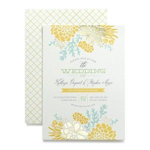 New foil stamped invitation designs add a touch of sparkle to your wedding invitations