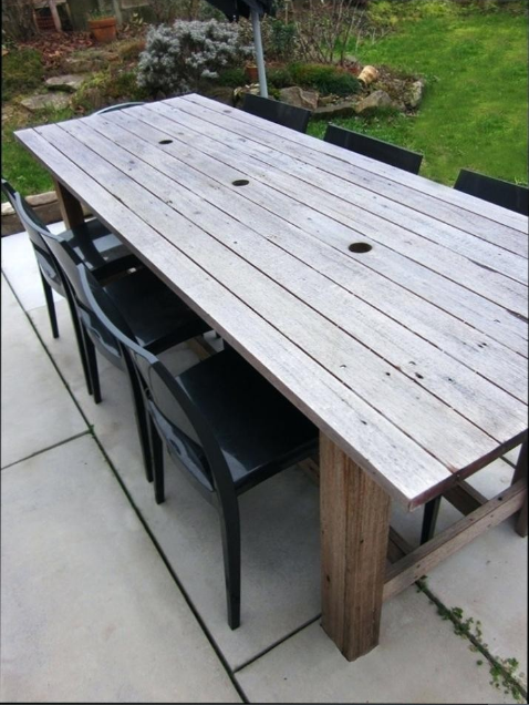 Construire Une Table De Jardin En Bois  Table de jardin bois