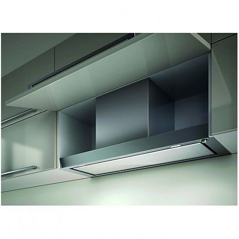Ceiling Mounted Kitchen Extractor Fan: Integrated Kitchen Extractor Fan. Integrated Kitchen Extractor Elica Hidden  Cooker Hood Stainless Steel White Glass,Lighting