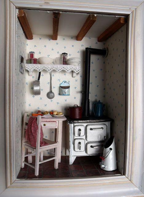 Las ventanas de MiniManie: la vieja cocina ....