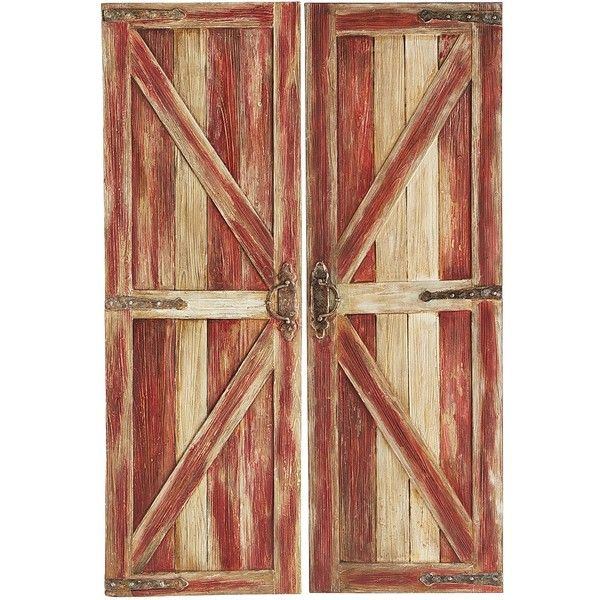 Home Decor Imports: Pier 1 Imports Rustic Barn Doors Art ($249) Liked On
