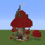 Wizard Mushroom House Blueprints for MineCraft Houses Castles Towers and more