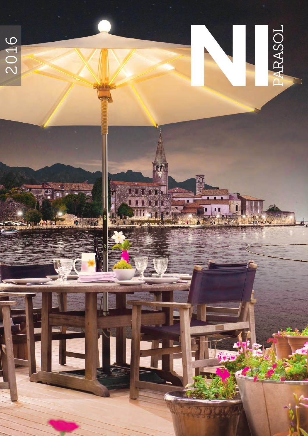 NI LED Parasol 2016 by FOXCAT Design, outdoor furniture