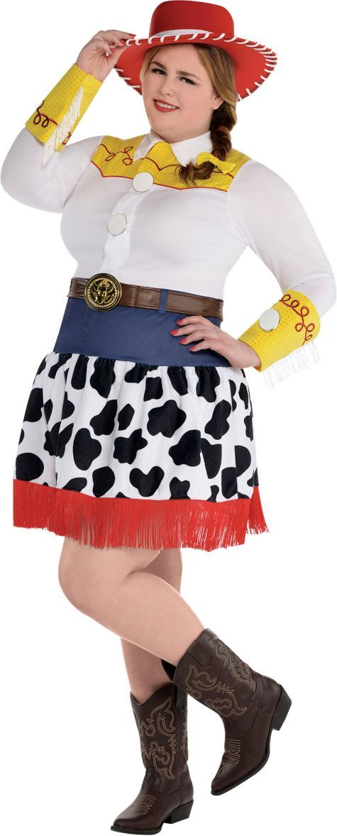 Adult Jessie Costume Plus Size Deluxe - Toy Story - Party City ... c1fd1adceb3