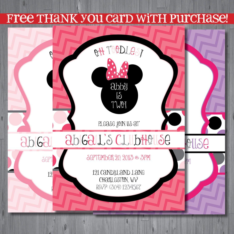 Minnie mouse Birthday Invitation, first birthday invitation ...