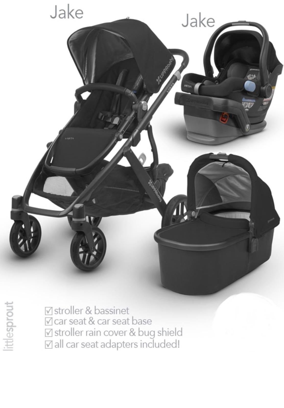 Uppababy vista Uppababy mesa car seat Color Jake black ...
