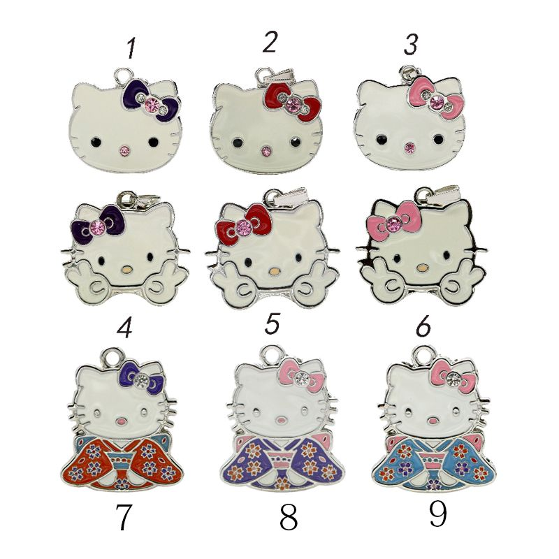cartoon necklace  usb flash drive 4G/8G/16G Kitty Crystal Rhinestone Jewelry u disk pen drive USB2.0 Flash Memory stick Drive