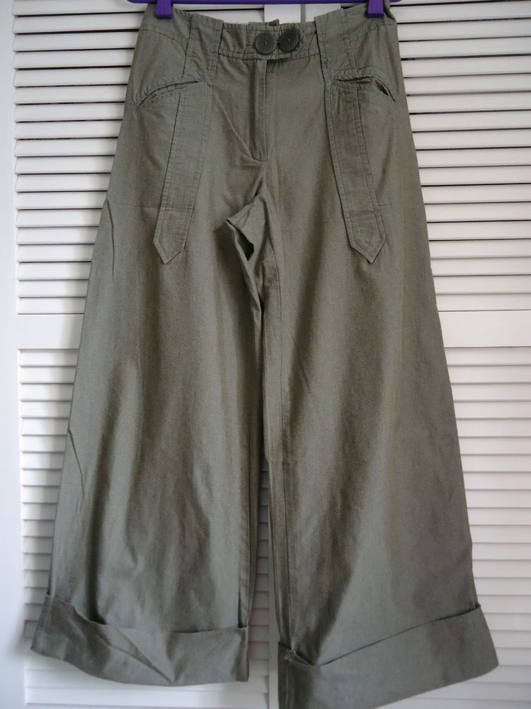 COTELAC Pantalon large beige T3 ou 40