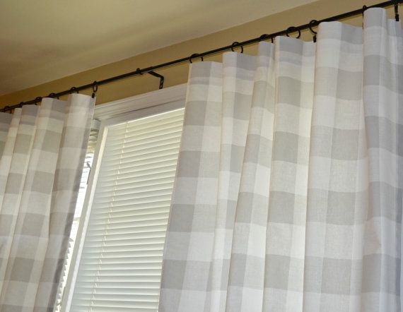 Grey Buffalo Check Curtain Panels Drapes Anderson French Gray And White Large Gingham Gray 25 Qu Panel Curtains French Country Living Room Gingham Curtains