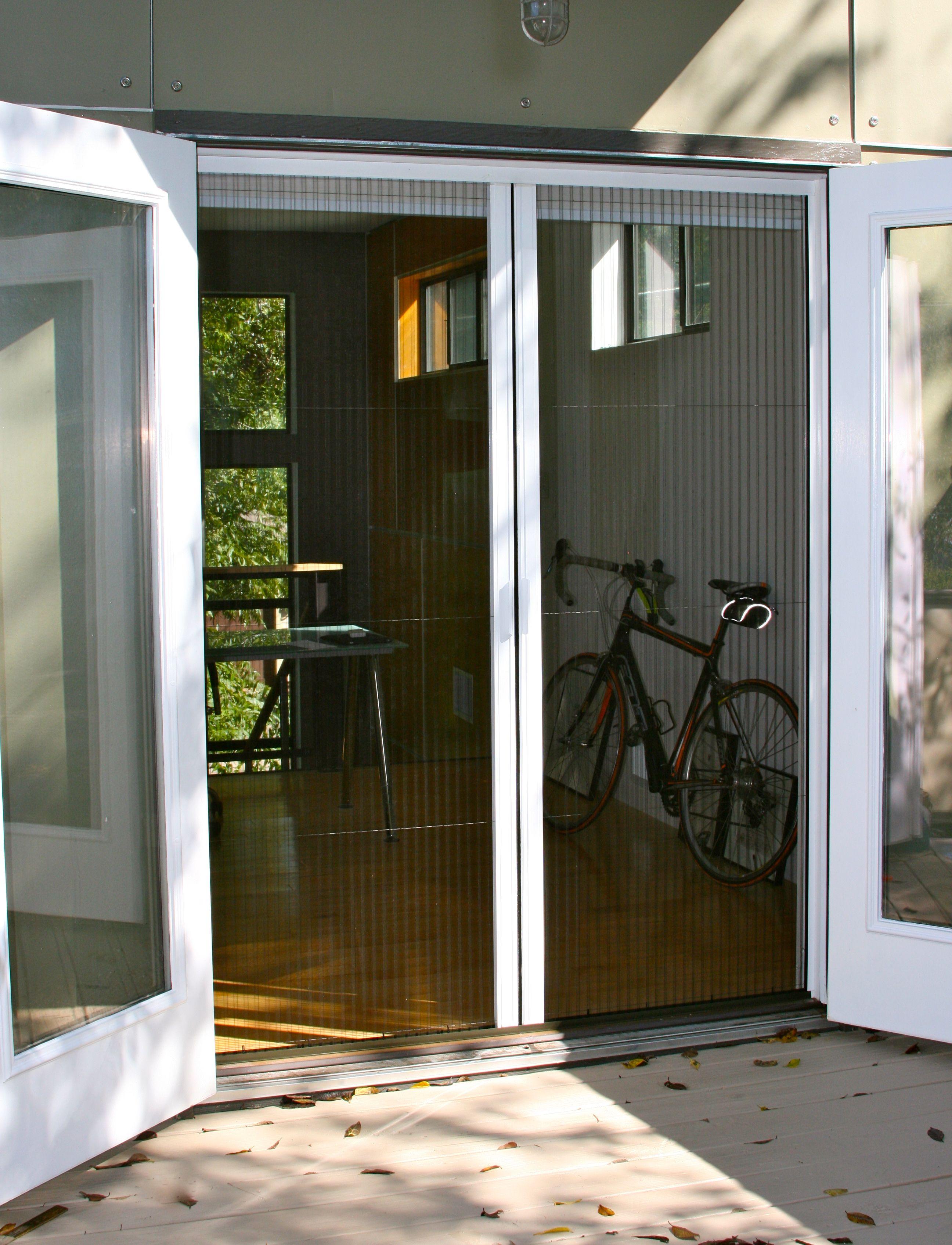 Plisse Double Door Retractable Screen Gallery French