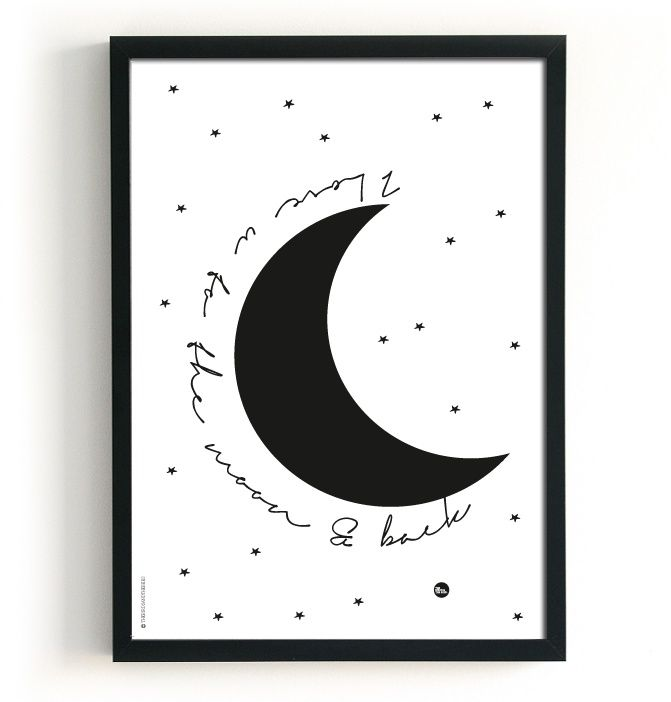 The Birds And The Bees Poster - Love & Moon - 2 in 1