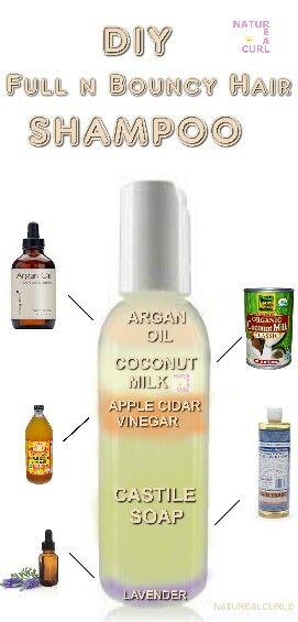 Natural Hair Diy All Natural Shampoo Recipe For Full And Bouncy Hair Volume Natural Hair Diy Bouncy Hair Natural Hair Styles