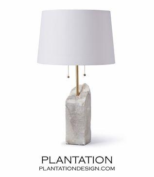 Gypsum Table Lamp Svetilniki Podelki