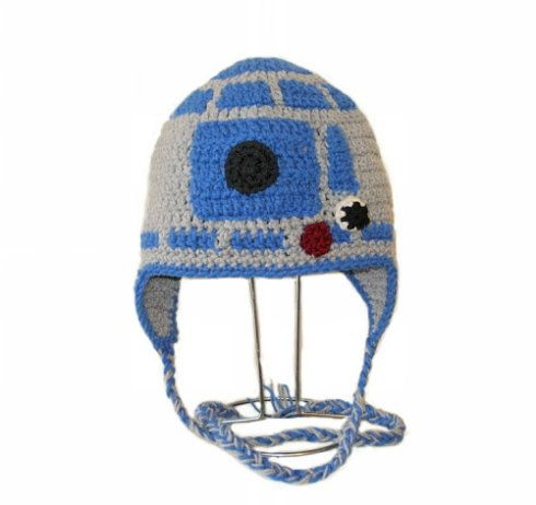Crochet Pattern Pdf R2d2 Hatanie And Earflapwithwithout Ears