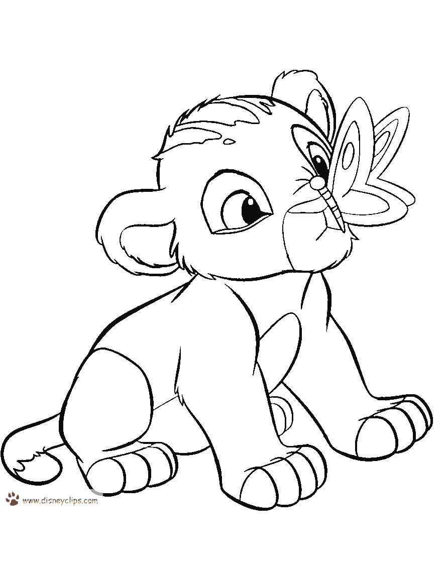 Baby Lion Coloring Page Youngandtae Com Lion Coloring Pages Lion King Drawings Lion King Pictures