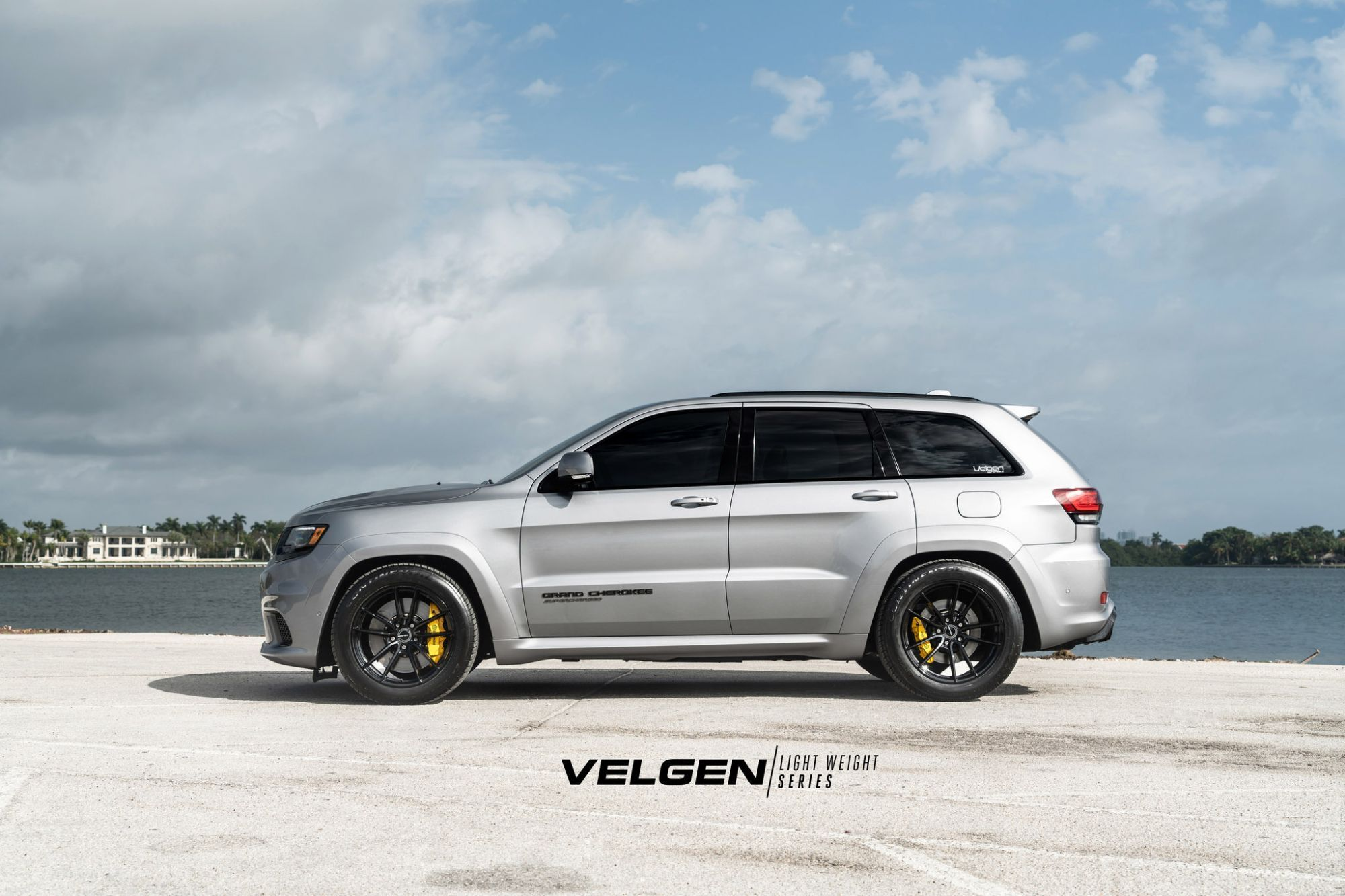 Jeep Grand Cherokee Trackhawk Grey Velgen Vf5 Aftermarket Wheels