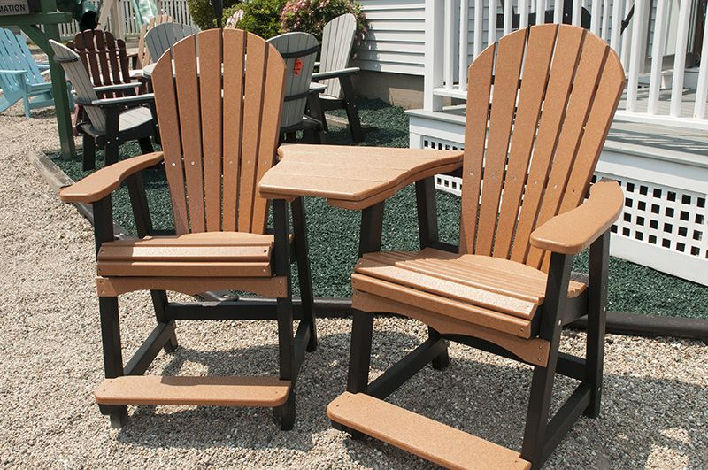 Poly Tete A Tete Black And Cedar Unfinished Business Outdoor