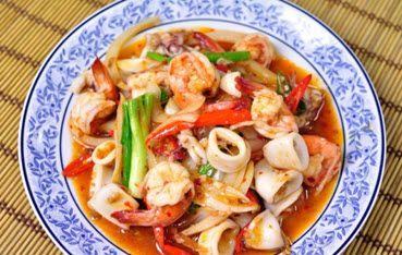 Curry de mariscos Thai