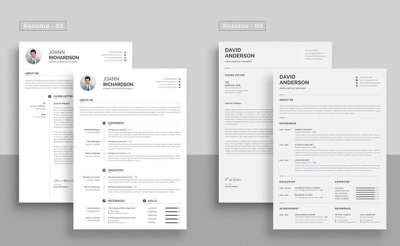 Professional Resume Template Top Selling Resume Cv Big Etsy Resume Template Professional Resume Resume Template