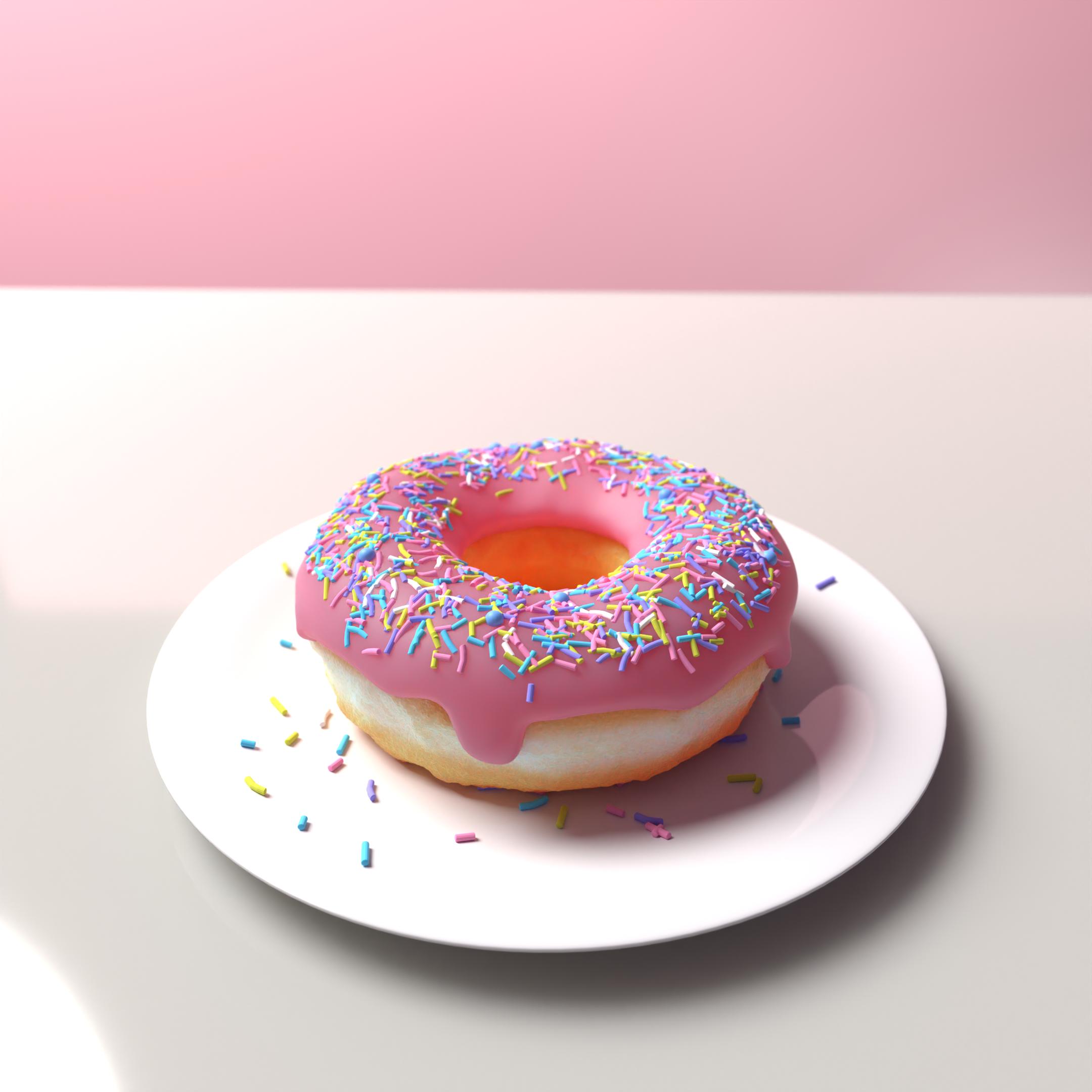#Donut #Food #3DModel