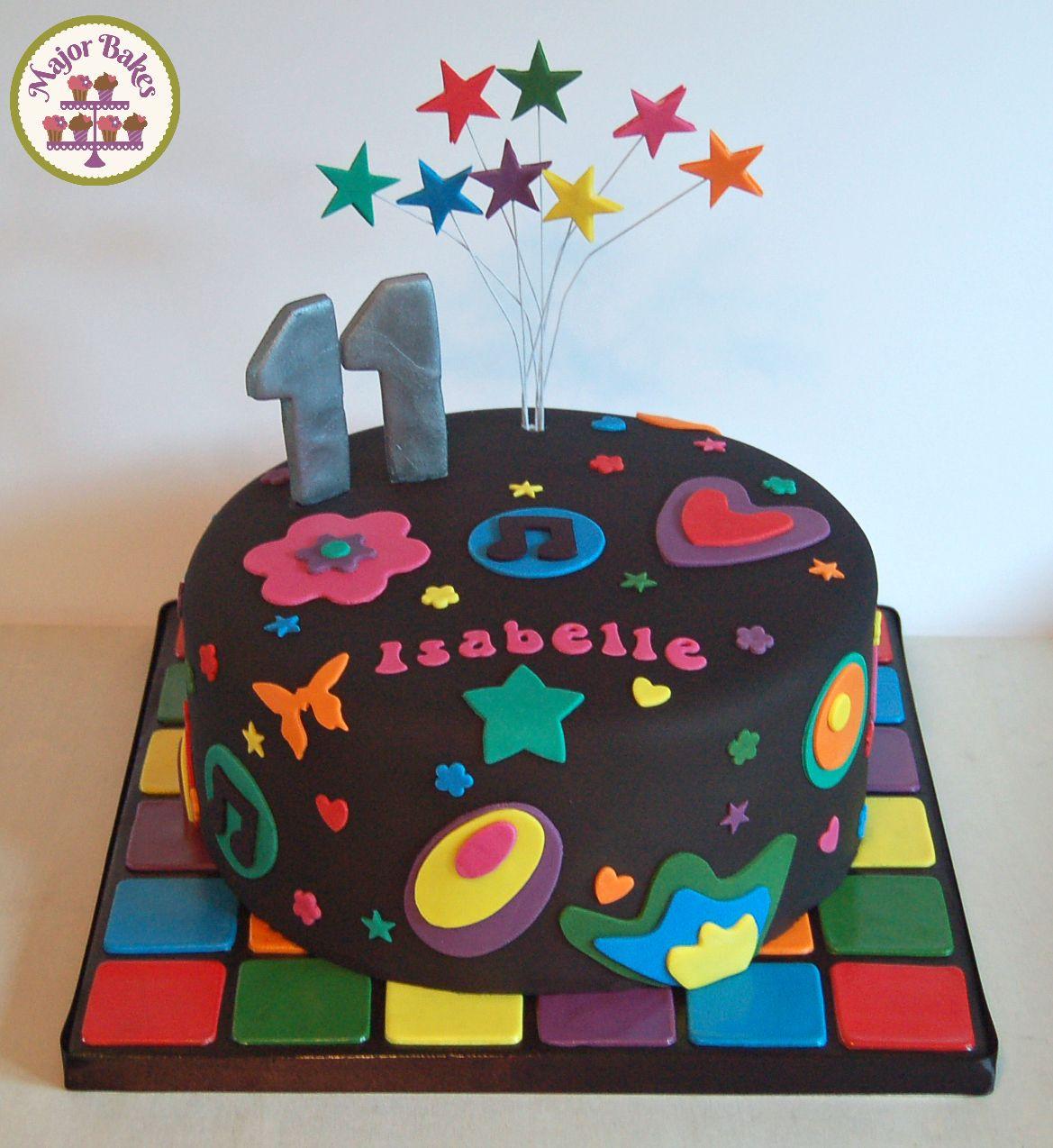 Black disco cake Celebration cakes by Major Bakes Pinterest