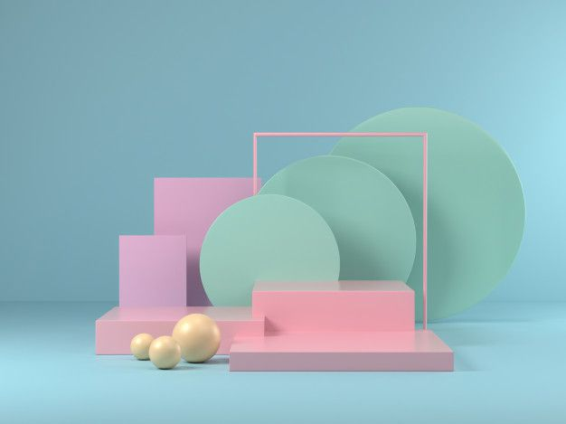 3d Render Of Mock Up Podium Abstract Pastel Podium Isometric Design Book Design Layout Exhibition Stand Design