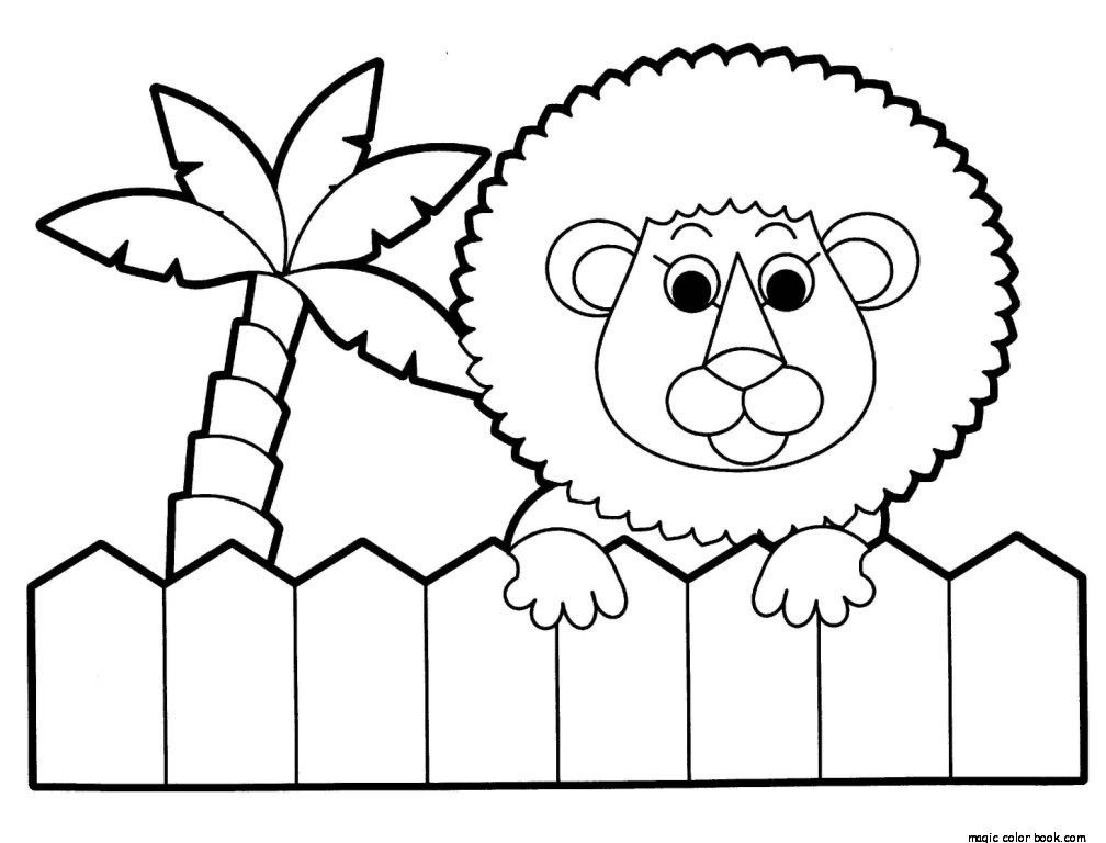 Zoo Lion Coloring Pages Online Free