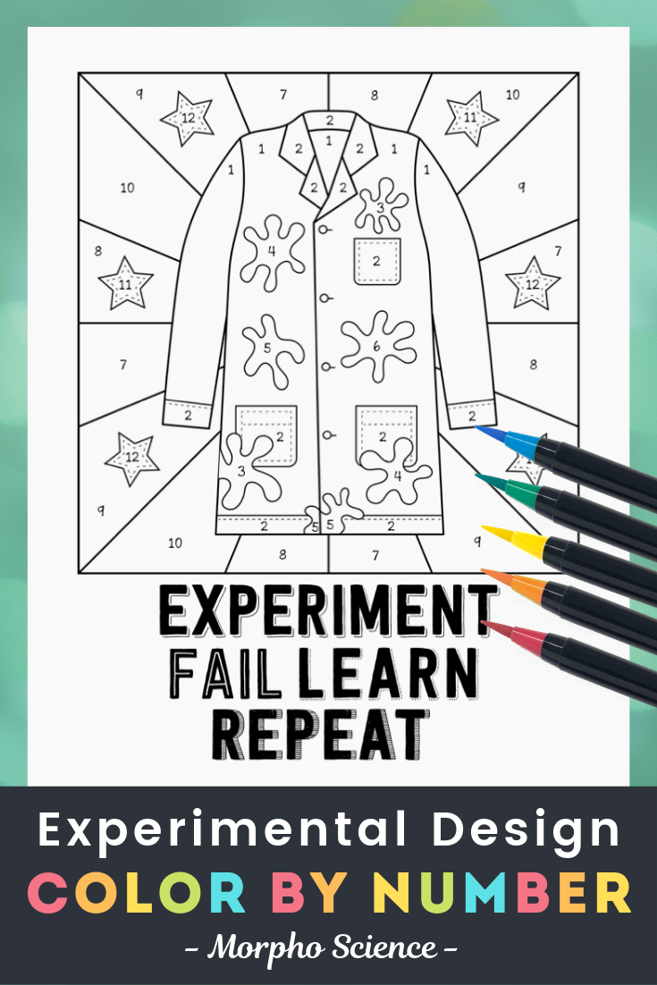 Experimental Design Color By Number Fun Worksheet Color Design Fun Worksheets Number Fun [ 1102 x 735 Pixel ]