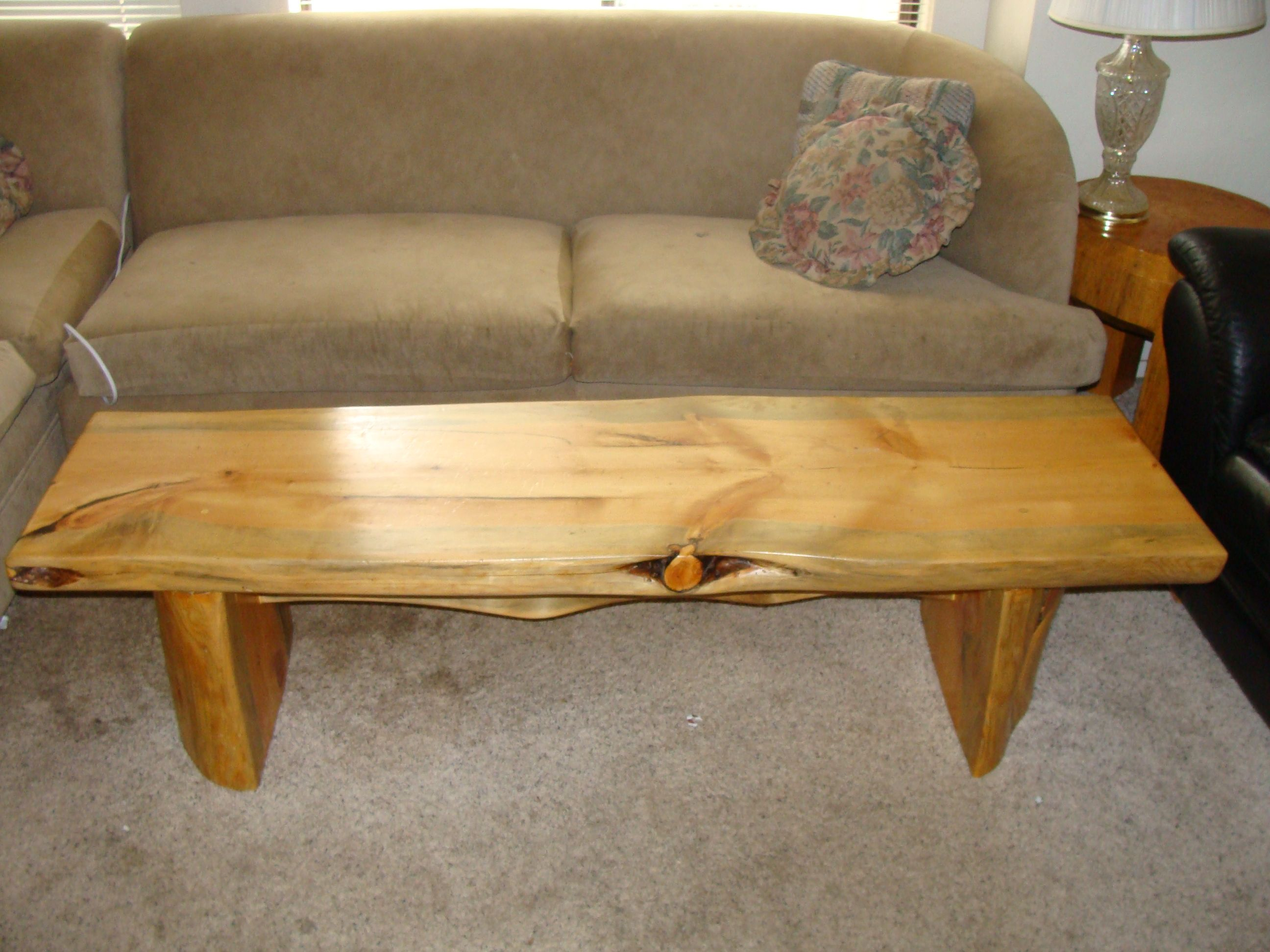 6 Knotty pine coffee table Log Furniture Pinterest