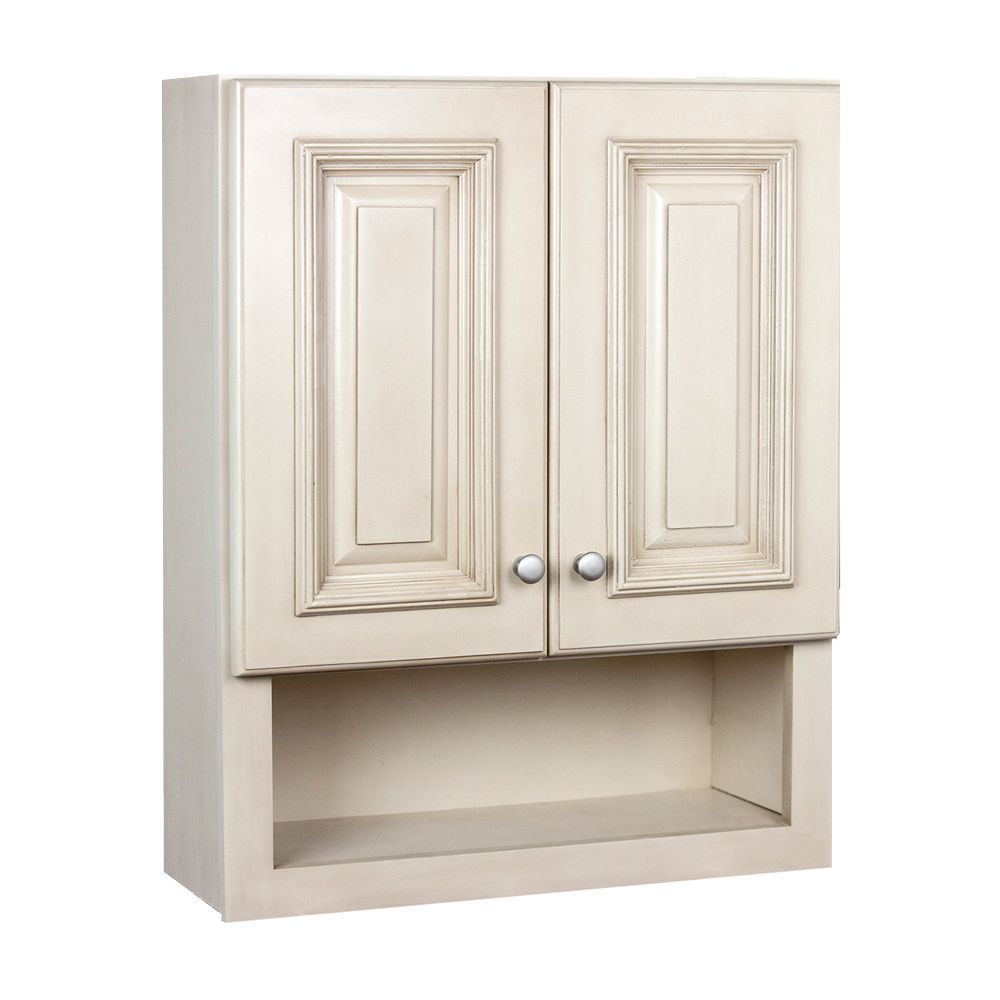 Bathroom towel cabinets - Tuscany Maple 2 Door Bathroom Wall Cabinet