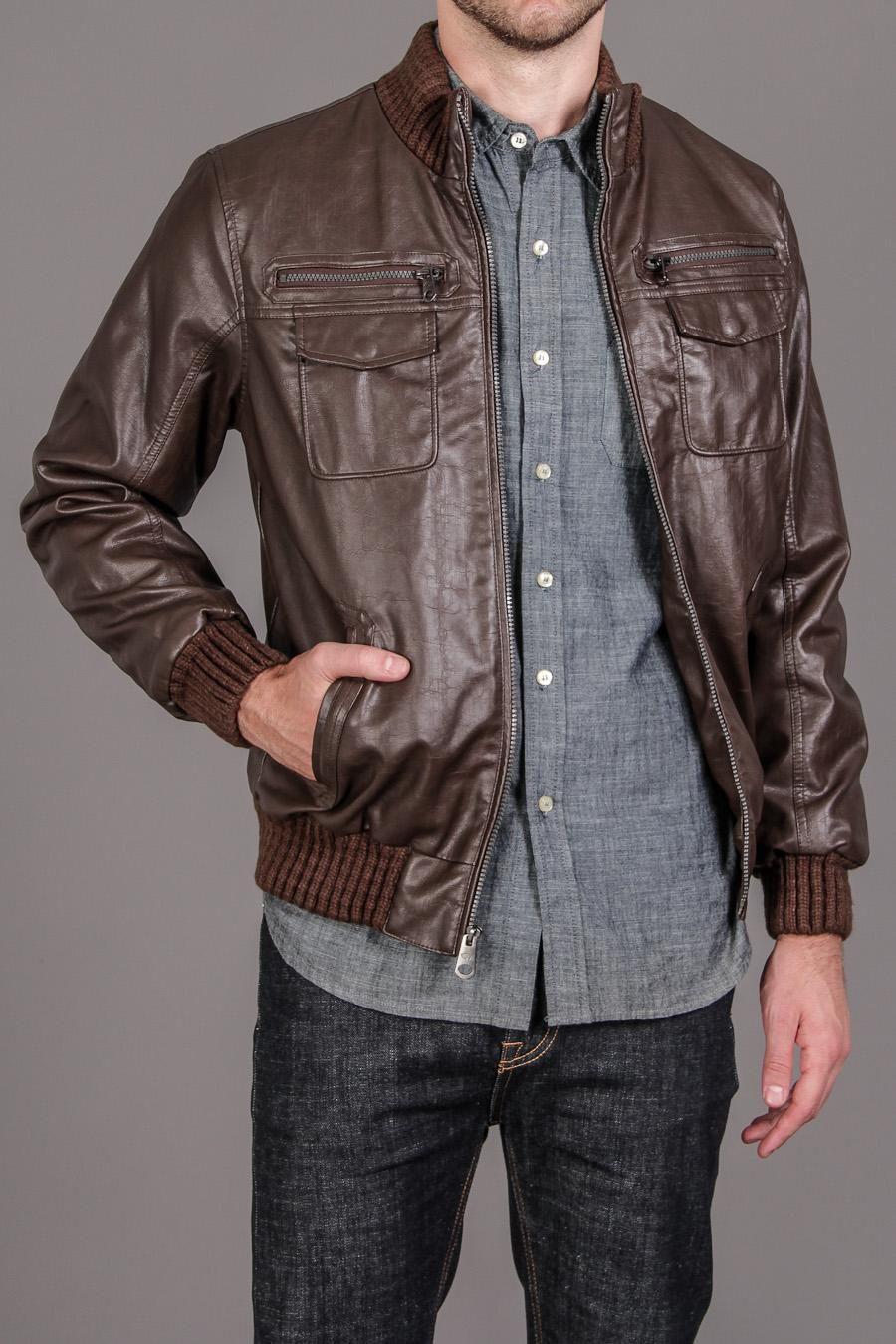 Buffalo David Bitton Bomber Jacket With Knit Collar 79 99 Mens Fashion Bomber Jacket Style [ 1350 x 900 Pixel ]