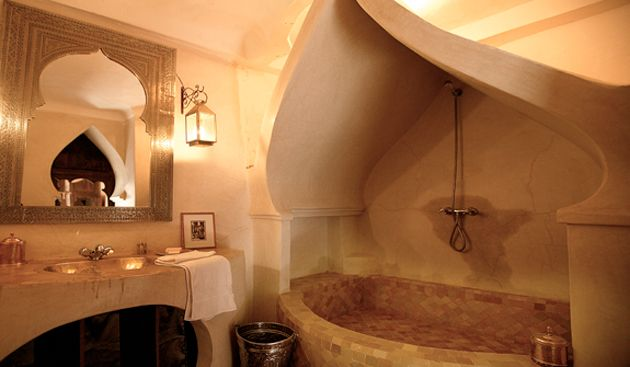 Salle de bain style palais oriental | villa bouskoura | Pinterest ...