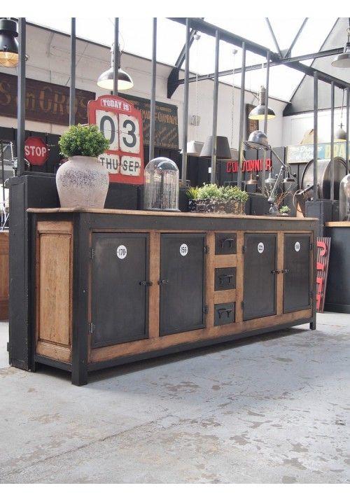 enfilade industrielle vers 1940 id es pour la maison pinterest enfilade industriel et meubles. Black Bedroom Furniture Sets. Home Design Ideas