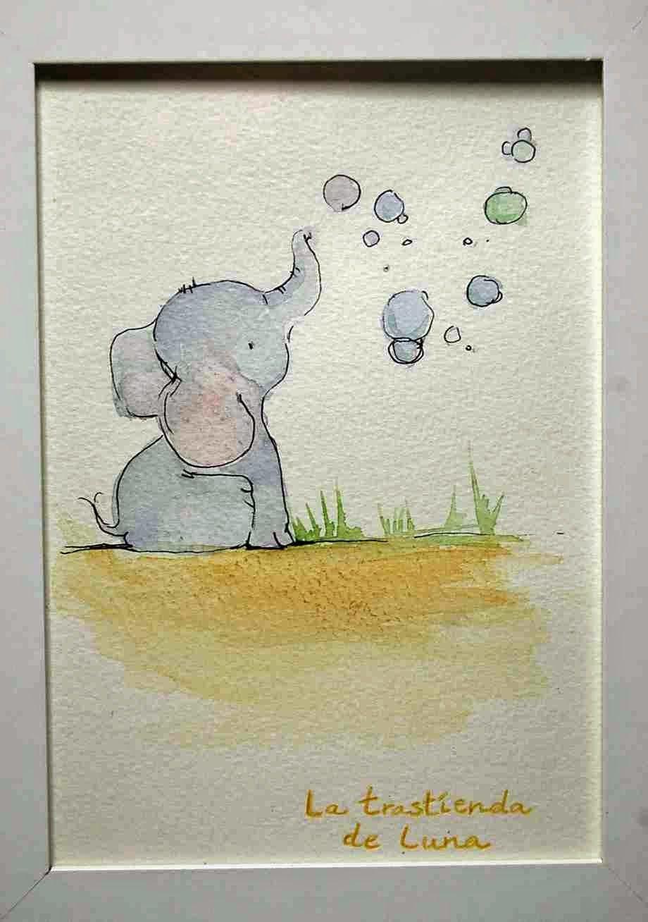 Acuarelas De Ilustraciones Infantiles Dibujo Animales