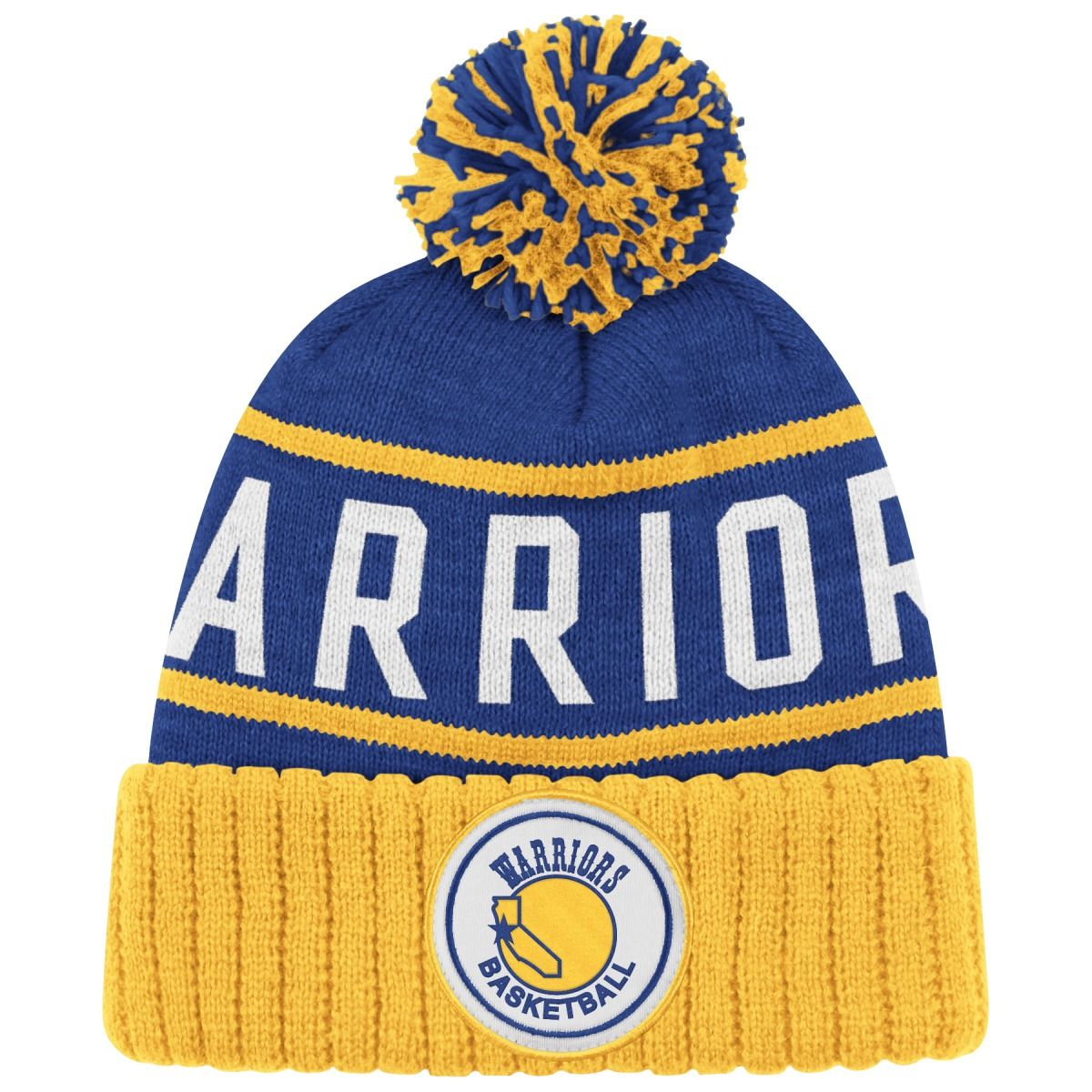 1096e251991 Golden State Warriors Mitchell   Ness High 5 Cuffed Knit Beanie - Blue