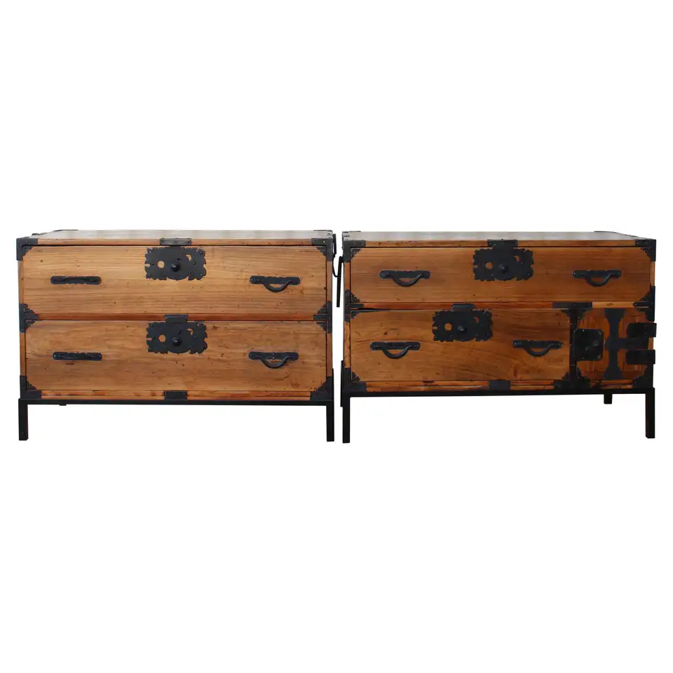 Pair Of Late 19th Century Japanese Tansu Chests In 2020 With