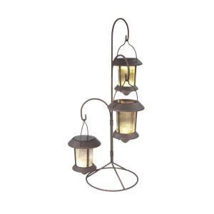 Hold All Outdoor Solar Hanging Lites With Stands Path Light 3 Pack Sl6372l The Home Depot Led Deck Lighting Hanging Solar Lights Outdoor Lighting