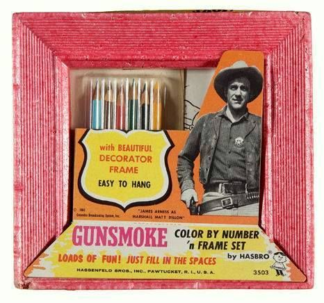 Hasbro Gunsmoke Color by Number 'n Frame Set