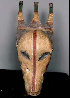 Old Tribal Kwele 2 Face Forest Spirit Mask  --  Gabon BN 53 #pictureplacemeant